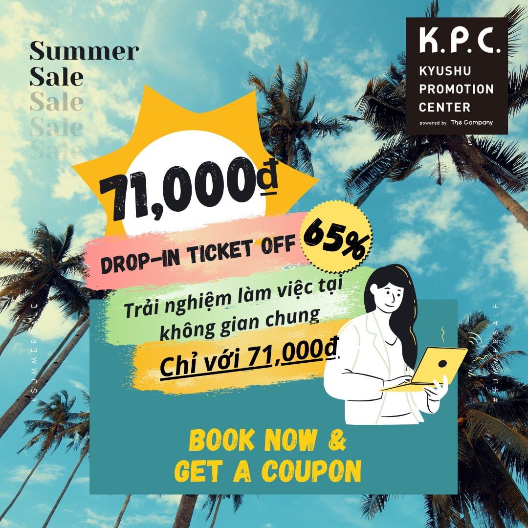 💥CO-WORKERS OFFER!!! DROP-IN TICKET OFF 65% ONLY 71,000Đ!